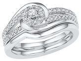 Women's 1/4 CT.T.W Round Diamond Prong Set Bridal Ring in 10K White Gold (I2-HI)