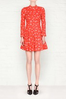SONIA by Sonia Rykiel SONIA by Sonia Rykiel Red Floral Print Dress