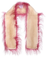 Prada Ostrich and mink fur scarf