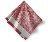 Snowflake Jacquard Napkins, Red, Set of 4