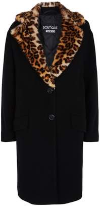 Moschino Leopard Collar Coat