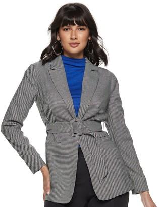 Nine West Women's Belted City Blazer