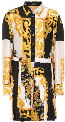 Versace Printed silk shirt dress