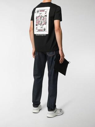 Alexander McQueen card-print T-shirt
