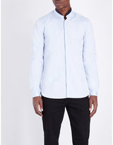The Kooples Leather-trim Cotton Shirt