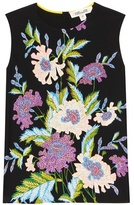 Diane von Furstenberg Sleeveless Shell Printed Silk Top