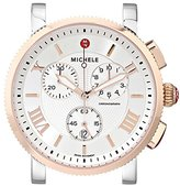 Michele Women's MW01K00L4018 Sport Sail Large Swiss Quartz Two Tone Watch Head