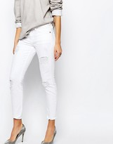 Current/Elliott Current Elliott Stiletto Skinny Jean With Distressing