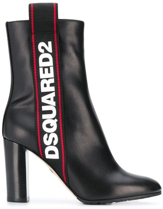 DSQUARED2 logo ankle boots