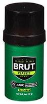 Brut Round Solid Deodorant For Men, 2.5 oz (Pack of 3)