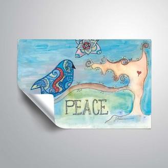ArtWall Peace, Removable Wall Art Mural by Lorri Hanna