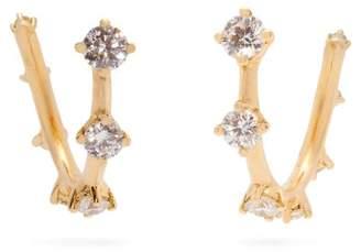 Fernando Jorge Sequence 18kt Gold And Diamond Hoop Earrings - Womens - Gold