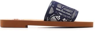 Chloé Lace Logo Sandals