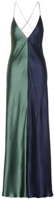 Lee Mathews Sierra silk maxi dress