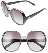 Chloé Women's Misha 59Mm Gradient Round Retro Sunglasses - Gradient Black
