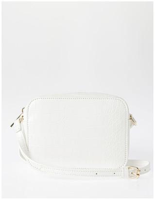 Miss Shop Zip Around Croc Crossbody Bag