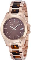 Ted Baker Women's TE4101 Smart Casual Three-Hand Rose Gold Watch