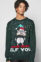 Boohoo 'Elf You' Xmas Jumper