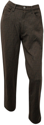 Fendi Brown Cloth Trousers