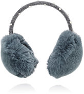 Yves Salomon Pearl-Embellished Fur Earmuffs