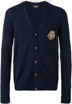 The Kooples skull patch cardigan - men - Merino - XL