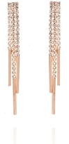 Quiz Rose Diamante Strand Drop Earrings