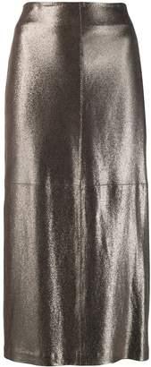 Brunello Cucinelli shimmer midi skirt