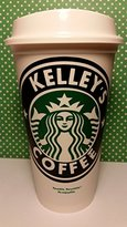 Starbucks Piece of Cake Parties Personalized Reusable Travel Coffee Tumbler (PERSONALIZE WITH ANY NAME)