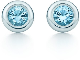 Tiffany & Co. Elsa Peretti Color by the Yard earrings in sterling silver with aquamarines