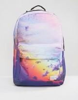 Spiral Backpack With Cloud Print