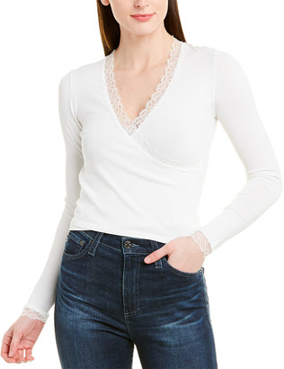 Jonathan Simkhai Lace-Trim Wrap Top