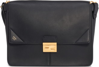 Fendi Large Kan U Leather Shoulder Bag