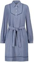 Maeve cotton chambray shirt dress