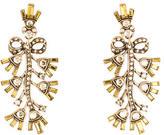 Oscar de la Renta Crystal Bow Earrings