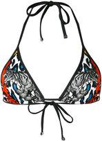 DSQUARED2 multi-print triangle bikini top - women - Polyamide/Spandex/Elastane - 44
