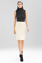 Josie Natori Bonded Gauze Skirt