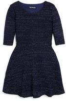 Bloomie's Girls' Lurex Striped Knit Dress - Sizes 2-6X