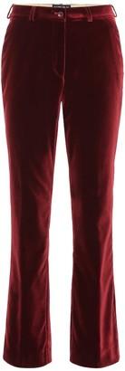 Etro Velvet mid-rise flared pants
