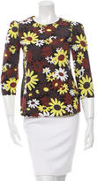 Marni Long Sleeve Daisy Print Top