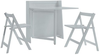 Julian Bowen Helsinki Space Saver Dining Table + 2 Chairs- Grey