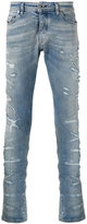 Diesel Black Gold distressed slim-fit jeans - men - Cotton/Spandex/Elastane - 30