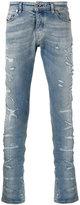 Diesel Black Gold distressed slim-fit jeans