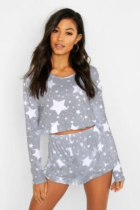 boohoo Star Print Frill PJ Short Set