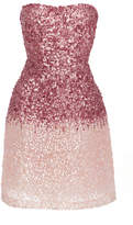 Monique Lhuillier Ombre Sequined Mini Dress