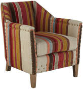 OKA Small George Club Chair, Oak Legs