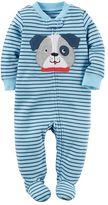 Carter's Baby Boy Embroidered Dog Striped Sleep & Play
