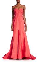 Zac Posen Strapless Sweetheart Gown, Flamingo Pink