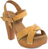 Pierre Dumas Camel Ankle-Strap Riply Sandal