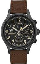Timex Men's TW4B15700 Expedition Scout Chrono Leather Strap Watch