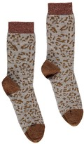 soeur Lurex Leopard-Print Socks